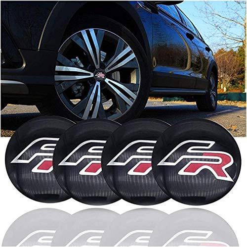 4 tapas centrales de rueda de coche para Seat Leon FR + Cupra Ibiza 6l Altea Exeo, protectores de llanta, cubierta central, pegatinas de decoración de protección contra el óxido