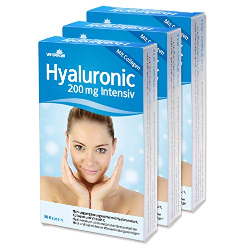 Hyaluronic 200 mg intensiv mit Collagen 90 Kapseln (3 Monate)