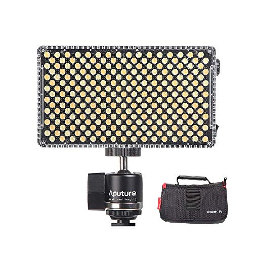 Aputure Amaran AL-F7 On-camera LED Light Lamp, CRI95+, 3200-9500K Daglicht verlichting, 920 lux op een meter