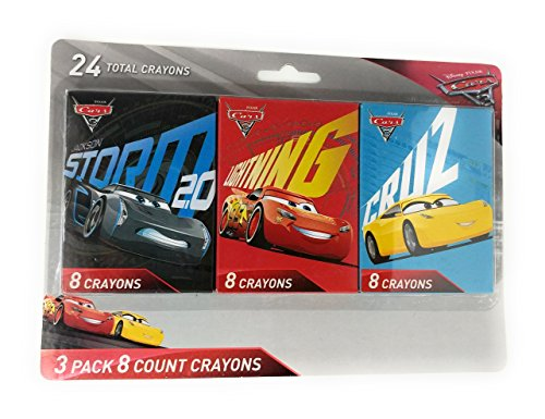 Disney Cars 3 - 3 Pack - 8 Count Crayons