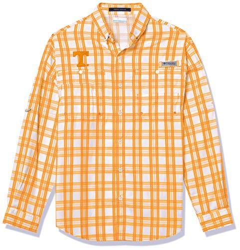 NCAA Tennessee Volunteers Men's Super Tamiami Long Sleeve Shirt, Medium, UT - Solarize Tartan Plaid