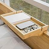 SoBuy NKD01-N Petite Table de Chevet Étagère Suspendue en Bambou Table de Nuit pour Les Petites Chambres, Les Lits Superposés, Les Loft et Les Dortoirs