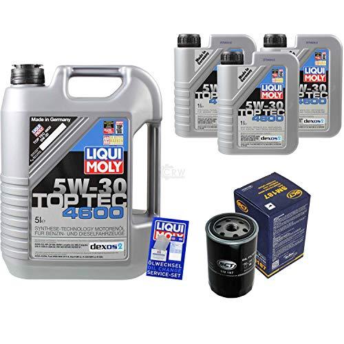Liqui Moly Top Tec 4600 5W-30 SCT Germany - Juego de filtros de aceite (8 L)