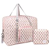 Bolsa de viaje plegable, ideal para fines de semana o llevar al gimnasio, perfecta como equipaje de mano para mujeres