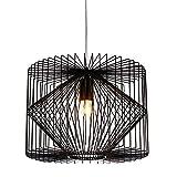 lux.pro Deckenleuchte Schwarz Metall Pendelleuchte Gitter Esszimmer Deckenlampe Vintage Retro Hängeleuchte Lampe LED Wohnzimmer