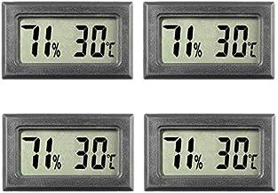 Nrpfell 4 Piezas TermóMetro Digital HigróMetro Medidores Medidor Interior Gran NúMero Pantalla Temperatura Humedad para Oficina en Casa