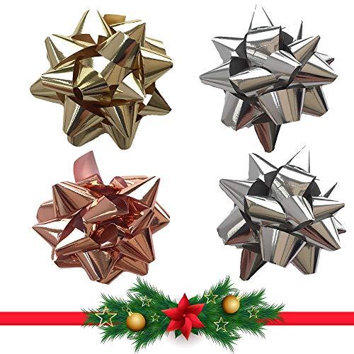 Schone Products (UK) Confezione da 4 fiocchi regalo – Metallic Shine – Lo spirito del Natale
