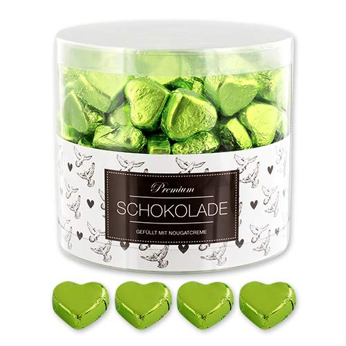 150 grüne Schokoladen Herzen Palma