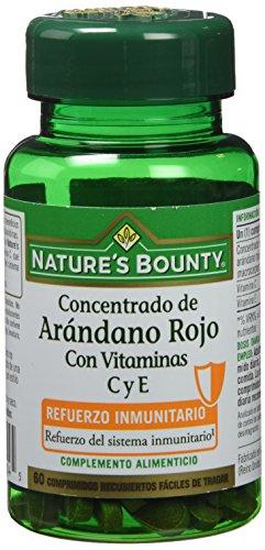 Nature's Bounty, Concentrado de Arándano Rojo con Vitaminas C y E,  60 Comprimidos