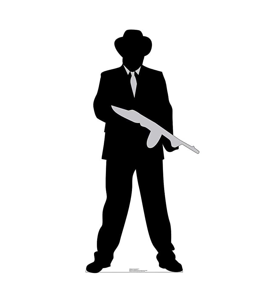 Advanced Graphics Gangster Tommy Gun Silhouette Life Size Cardboard Cutout Standup oyofrukx9594