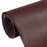 Myuilor Pegatinas de cuero para sofá autoadhesivos de reparación de cuero simulación de cuero utilizado en sofás, muebles, asientos de conductor (marrón oscuro, 8.3 x 11.8 pulgadas)