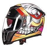 Adulto Profesional Doble Lente Casco Abs Material Hombres Racing Protección Gorras eléctricas de Seguridad de la Moto Classic Full Face Cascos de Motocross