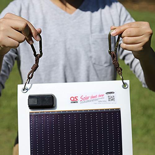 日本製5.4Wどこでも発電OSオーエスソーラーシートチャージャーGN-050