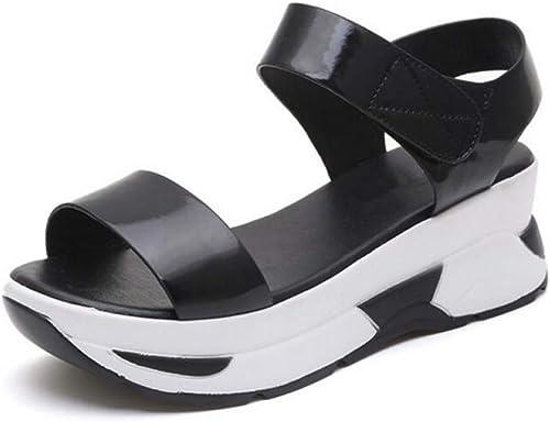 rouge LIU été Nouvelles Femmes Sandales marée marée marée Sauvage Décontracté Chaussures Femme été Chaussures de Plage Chaussures Plates Sandales étudiantes Sandales Pantoufles Chaussures bab