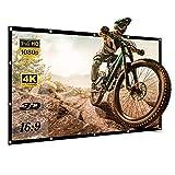 スクリーン 100インチ 16:9 プロジェクタースクリーン 持ち運び 屋外屋内 壁掛け式スクリーン 折りたたみ式 投影用 3D フルHD 4K解像度 ビジネス会議 教室 映画 適用