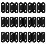 30 piezas de soporte de esquina recto plano para placa de unión de metal, soporte de repa...