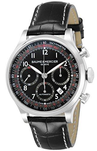 [ボーム&メルシエ] 腕時計 ケープランド ブラック文字盤 自動巻 アリゲーター革 MOA10042 並行輸入品 [並行輸入品]