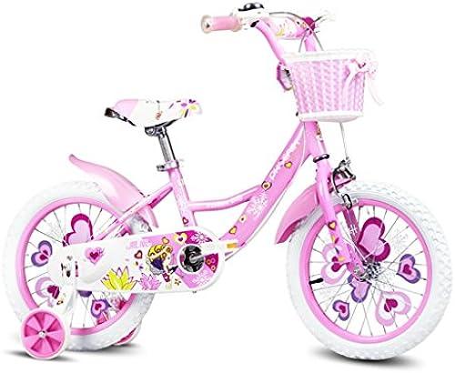 Kinderfürr r Einr r Kinder fürrad 12 14 Zoll mädchen Baby fürrad Sport fürrad 2-6 Jahre alt Kind mädchen Kinderwagen (Farbe   Rosa, Größe   96  75cm)
