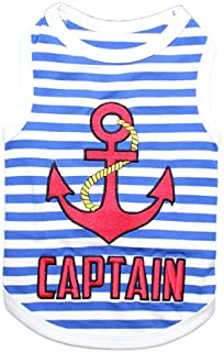 Parisian Pet Dog Cat Clothes Tee Summer T-Shirts Shed Happens, Best Dog Ever, Lobster, Crab, Turtle, Captain