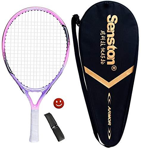 Senston 23' Youth Tennis Racket for Kids Children Boys Girls Tennis Racquets Pink Color