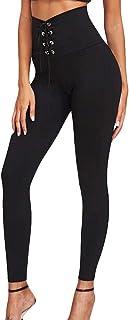 Qootent Women's Leggings High-Elastic Slim Lace Up Pencil Pant Trouser Sweatpants