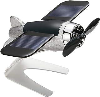 Rubyyouhe8 Decoration,DIY Ornament,Car Auto Styling Solar Energy Rotating Aircraft Airplane Dashboard Decoration Display Model