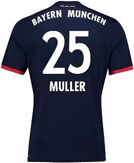 2017-18 Bayern Away Football Soccer T-Shirt Jersey (Thomas Muller 25)
