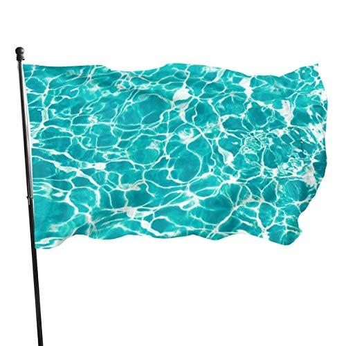 Im Freien Die Flagge des Mineralwassers, Yard Flag - 3 X 5 ft