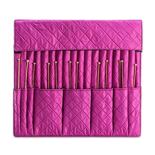 MUA Limited DeNoa Knitting Crochet Needle Storage Case Folding Travel Bag Orchid