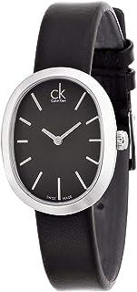 Calvin Klein Women's Black Dial Leather Band Watch - K3P231C1