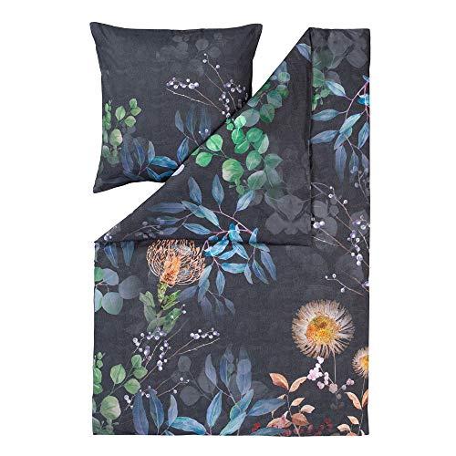 ESTELLA Bettwäsche Midnight | Multicolor | 135x200 + 80x80 cm | Mako-Satin mit seidigem Glanz | trocknerfest | atmungsaktiv und anschmiegsam | 100% Baumwolle