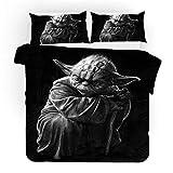 MODRYER Star Wars de Cama Set 3 Piezas Imprimir la Cubierta del Duvet con Fundas niños de los niños Dormitorio Decoración,04-EU/Double 200x200cm