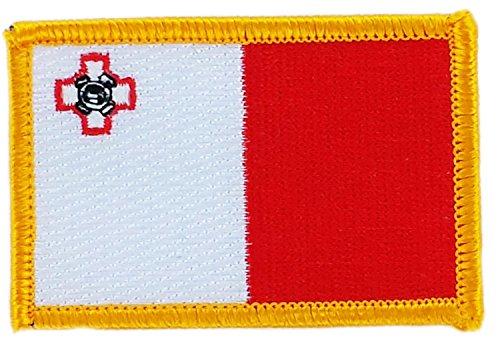 Patch Aufnäher bestickt Flagge Malta maltesischen zum Aufbügeln Abzeichen Wappen