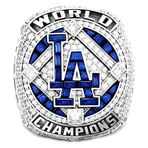 TYTY 2020-2021 MLB Baseball Los Angeles Dodgers World Series Championship Ring Super Bowl Ringe, Replica Ring Fans Sammler Geschenk,with Box,8