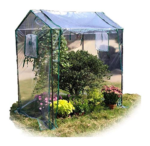 Walk in Greenhouse Tunnel Greenhouse Garden Planting Shed Clear PVC Cover ,for Tomato Cultivation Growing As Cold Frame (Color : 2pcs, Size : 130x90x150cm)