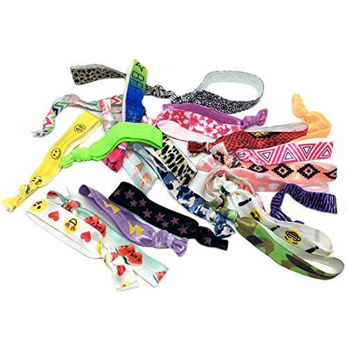 ZUJI 100 Stück Armbänder Party Mitgebsel Stoff Haarband für Kinder Mädchen Geschenk
