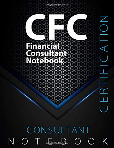 """CFC Notebook, Financial Consultant Certification Exam Preparation Notebook, 140 pages, CFC examination study writing notebook, Dotted ruled/blank ... 8.5"""" x 11"""", Glossy cover pages, Black Hex"""