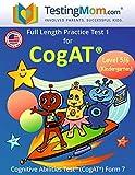 Cogat Test Prep Workbook – Jardín de infantes...