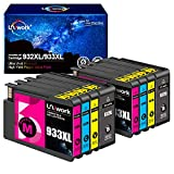 Uniwork Compatible Ink Cartridge Replacement for HP 932XL 933XL 932 933 use for Officejet 6600 6700 6100 7612 7610 7110 Printer (2 Black 2 Cyan 2 Magenta 2 Yellow)