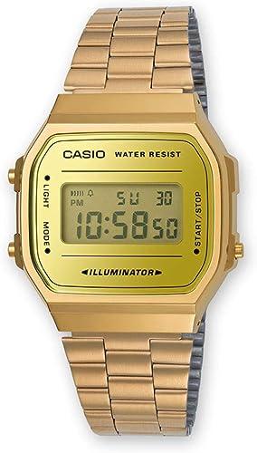 Casio - Montre Multifonction Bracelet Acier doré Casio Vintage (a168wegm-9ef)