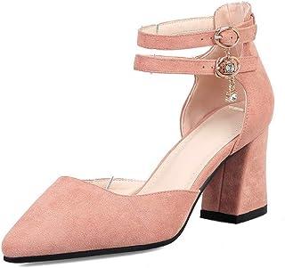 BalaMasa Womens ASL06573 Pu Block Heels