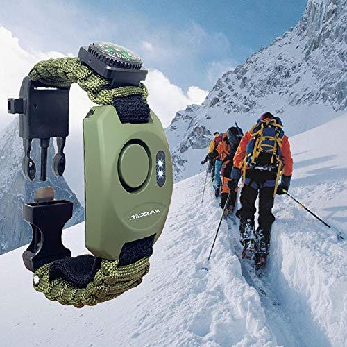 DRIDOUAM 8-in-1 Wrist Personal Alarm Paracord Survival Bracelet ...