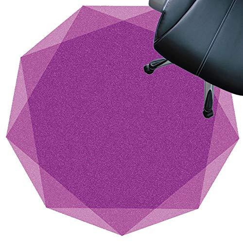 SYEA Protector Suelo Silla Protector De Piso para Escritorios Oficina Y Hogar Tapete Antideslizante Silencioso Resistente Al Desgaste Fácil De Limpiar(Size:120cm(47.2in),Color:púrpura)