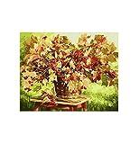 zxsl Rowan Bouquet dans Le Panier de Fleurs à colorier par numéros sur des Images de Murs en Toile pour Le décor à la Maison 40X50CM, sans Cadre