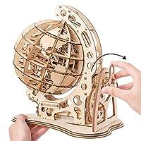 Robotime 立体パズル 木製パズル クラフト プレゼント おもちゃ オモチャ 知育玩具 男の子 女の子 大人 入園祝い 新年 ギフト 誕生日 クリスマス プレゼント 贈り物(地球儀)