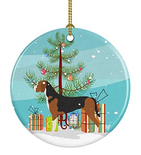 Lplpol Adorno redondo de cerámica de perro pastor de Mallorca, árbol de Navidad, CT088