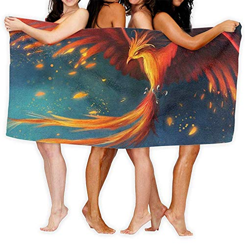 Microvezel Zand Gratis Dunne Strand Handdoek Deken, Geweldige Fantasy Phoenix Vogel Buiten Microvezel Snelle Droog Reishanddoek - Ideaal Snelle Drogen Handdoeken voor Reizen, Camping, Strand, Rugzakken, Zwemmen