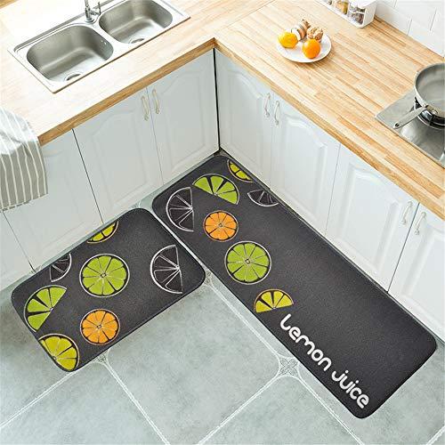 European-Style Modern Non-Slip Water-Absorbing Oil-Absorbing Mats Simple Geometric Rectangular Printing Mats Kitchen Mats Hotel Restaurant Carpets
