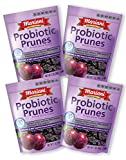 Mariani - Probiotic Pitted Prunes - 7oz (Pack of 4) - Supports Immune & Digestive Health - Gluten Free , Vegan, Resealable Bag - Healthy Snack for Kids & Adults