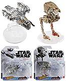 Hot Wheels 2020 Bundle of 2 Star Wars Starships Mandalorian Razor Crest and at-ST Raider